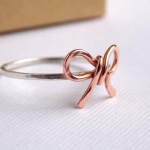 Forget Me Knot Bow Ring-- Friendshi..