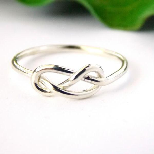 Infinity Knot Ring-- Sterling silver ring, love ring, love knot, promise ring, infinity friendship ring